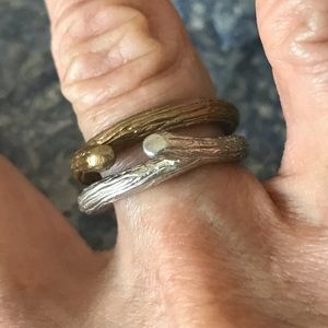 Jewelry - 🌳Set of 2 Trendy Modern Twig Rings🌳